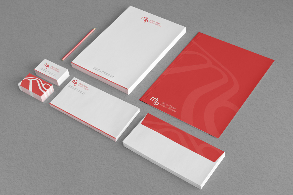 Stationery: Letterhead, Folder, Business Cards and envelopes