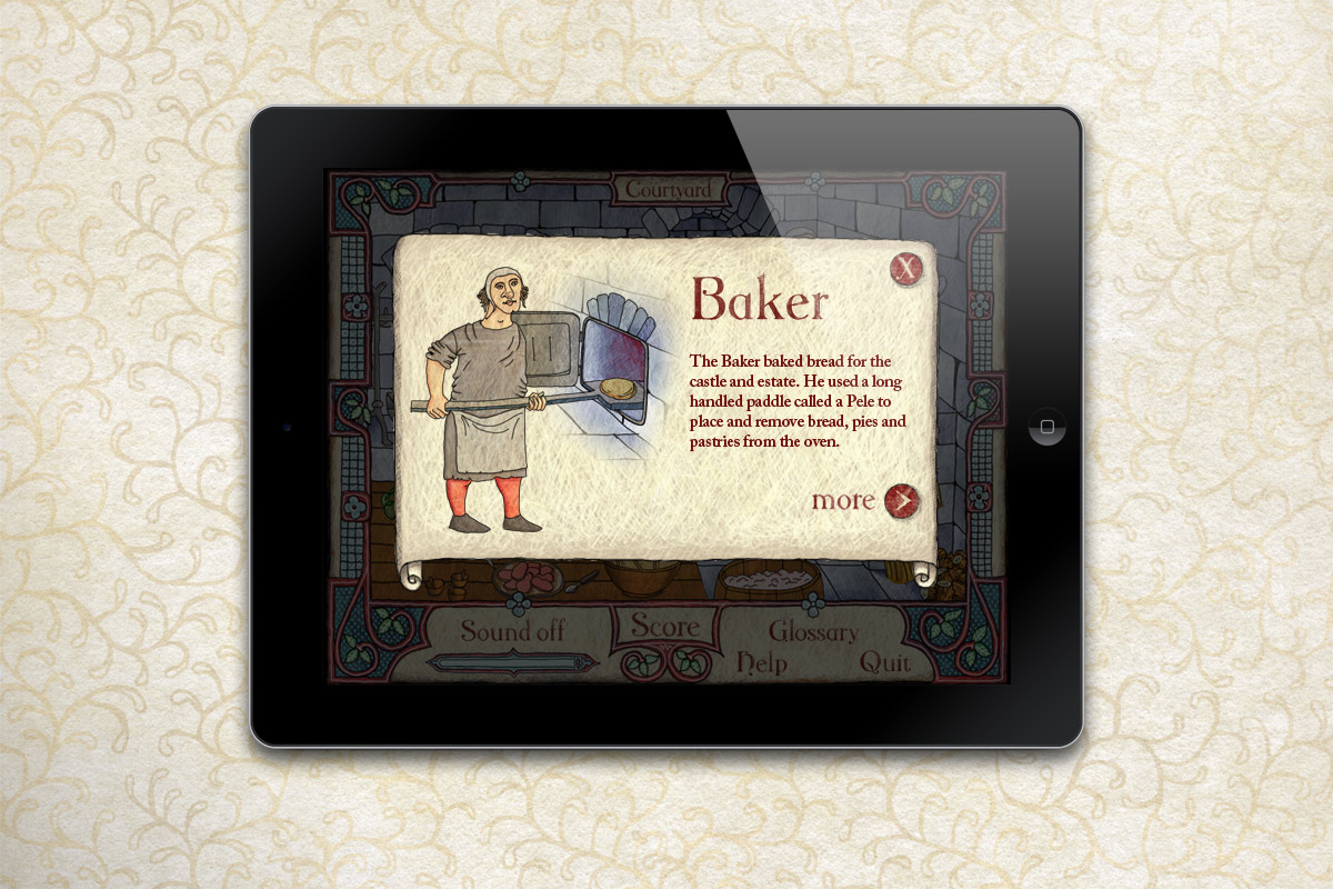 Kitchen section: baker