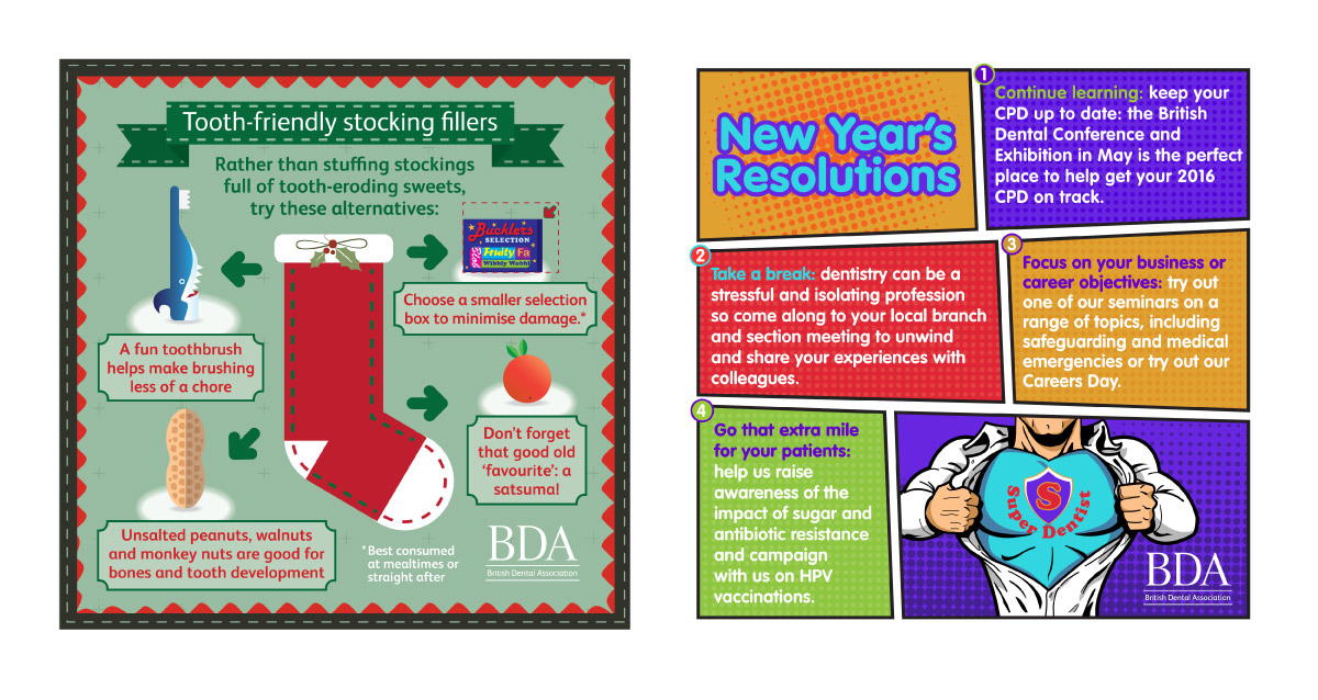 Seasonal infographics for social media
